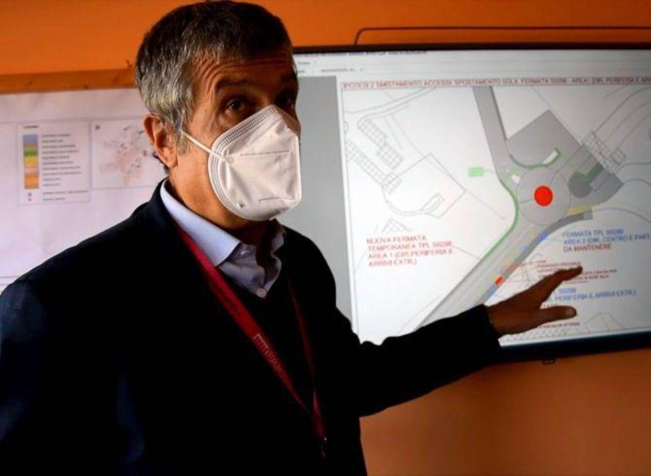 L'architetto Filippo Terzaghi, direttore del dipartimento tecnico del Policlinico Le Scotte