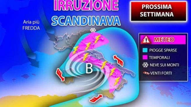 Previsioni meteo domenica 15 novembre all'insegna dell'instabilità