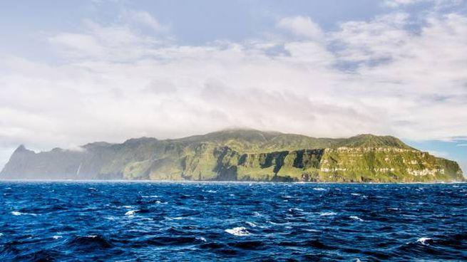 Una delle isole dell'arcipelago Tristan da Cunha