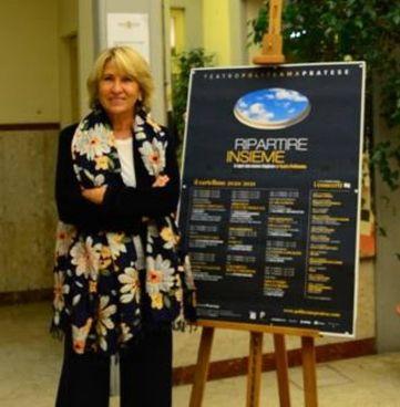 La presidente Beatrice Magnolfi nel foyer del Politeama