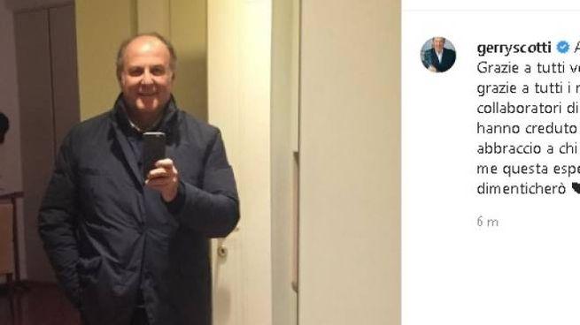 Gerry Scotti è tornato a casa (Instagram)