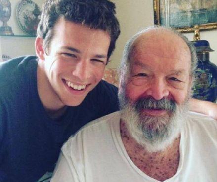 Sebastiano Pigazzi Pedersoli, 24 anni, con il nonno Bud Spencer (. 1929-2016)