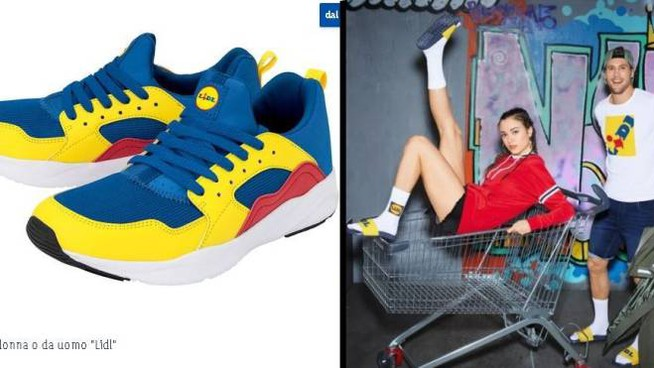 Le sneakers e altri capi della Lidl Fan Collection