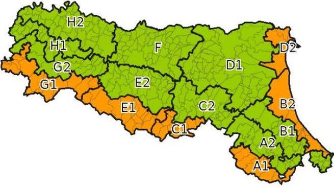 Allerta meteo arancione in Emilia Romagna per il 20 novembre: ecco dove