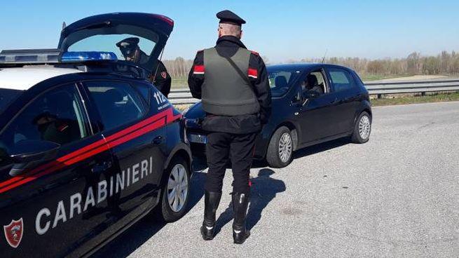 Controllo dei carabinieri (foto d'archivio)