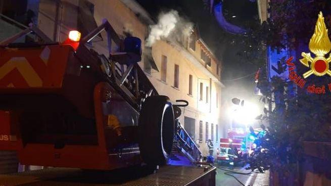 I vigili del fuoco a Biassono