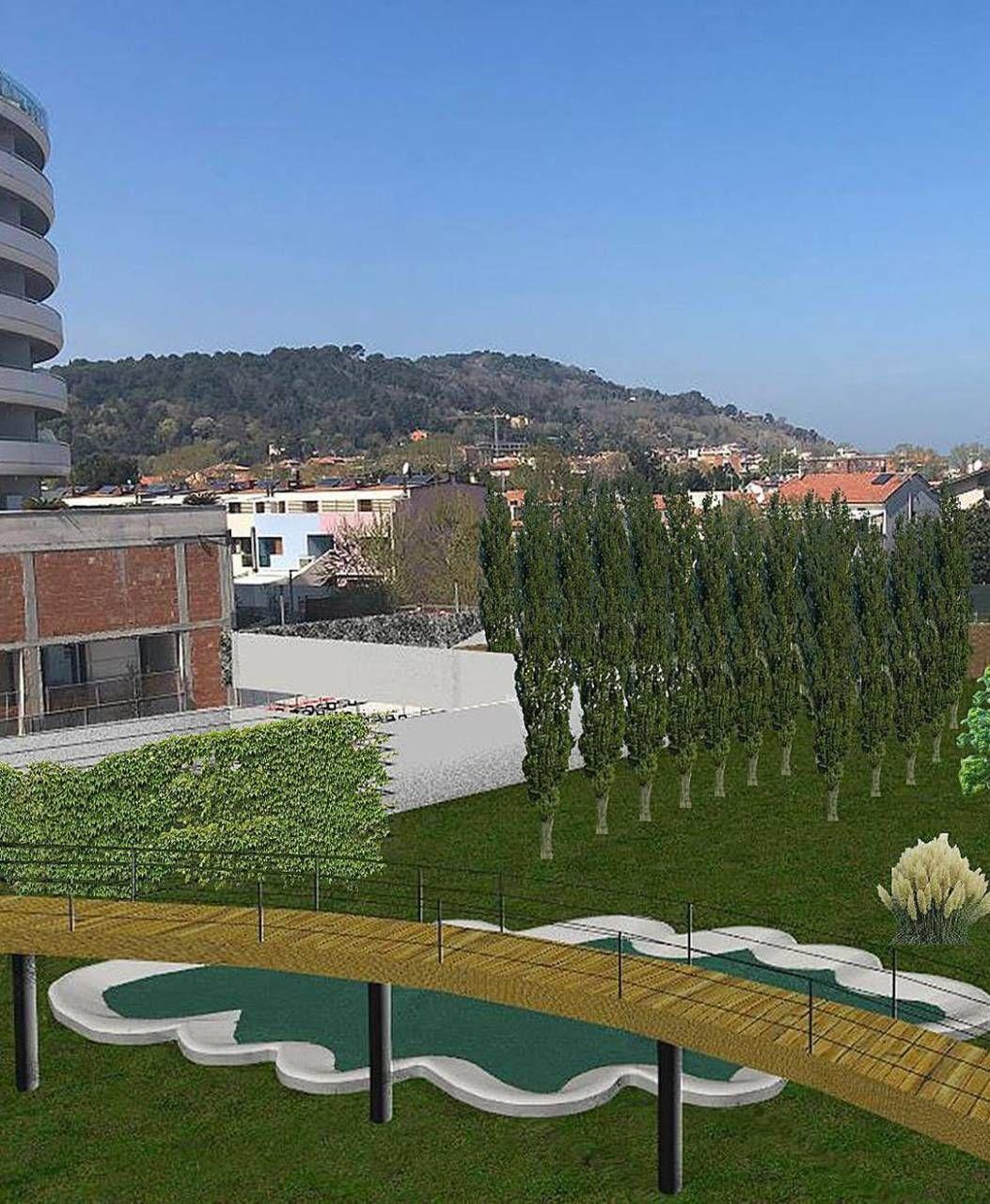 Ecco il rendering del parco all'ex Amga con la piantumazione di oltre 200 piante, e poi laghetti e ponticelli