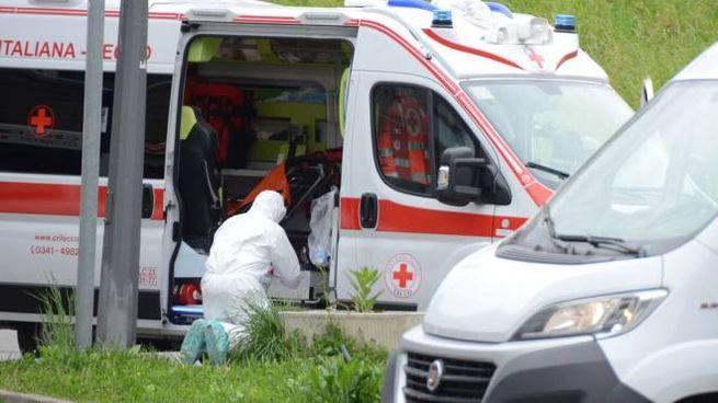 Un'ambulanza (foto d'archivio Cardini)