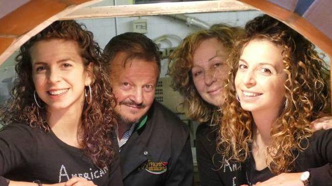 Sara, Mario, Donatella e Eerena Macaluso di American Pizza (Foto Attalmi)