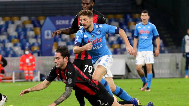 Dries Mertens, attaccante del Napoli (Ansa)
