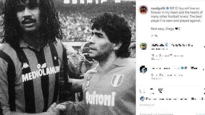 Il post di Gullit (Instagram)