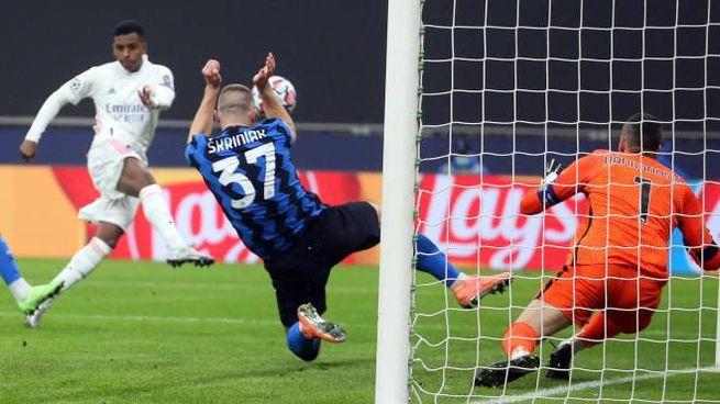 Il gol di Rodrygo (Ansa)