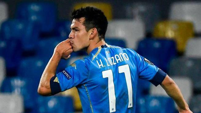 Lozano in gol contro il Rijeka (Ansa)
