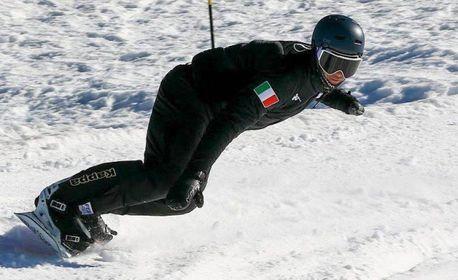 Jacopo Lucchini, montemurlese, campione paralimpico di snowboard, e un atleta della nazionale italiana