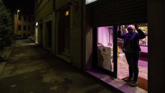Un negozio chiuso per lockdown (New Press Photo)