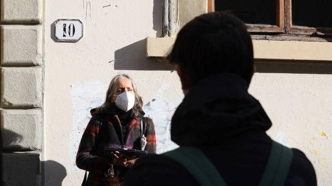 Liceo Castelnuovo, lezione in strada (foto Giuseppe Cabras/New Press Photo)
