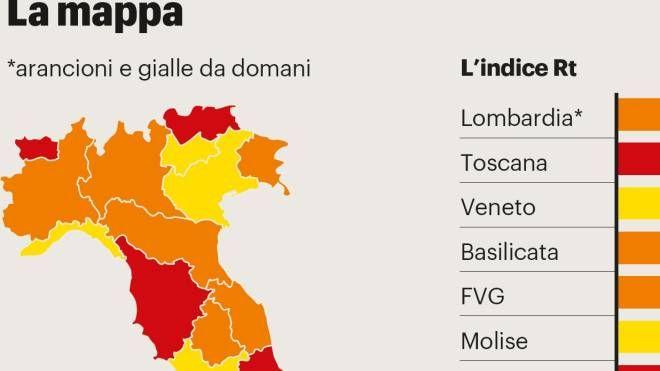 Cartina Dell Italia Rovigo.Zone Covid Italia La Lombardia E Arancione Ecco La Nuova Mappa Delle Regioni Pdf Cronaca