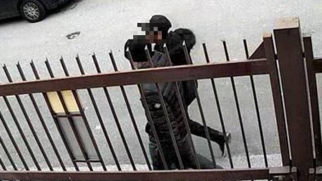 I due fermati in un frame delle telecamere di videosorveglianza