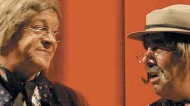 """La """"Teresa"""" Antonio Provasio con Luigi Campisi nei panni del """"Gioann"""""""