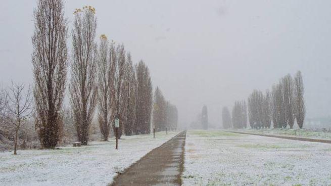 La neve a Milano il 2 dicembre (foto Ansa)