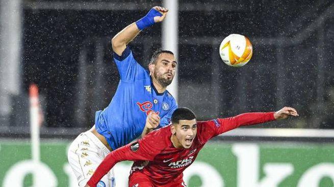 Solo un pareggio per il Napoli contro AZ Alkmaar (Ansa)