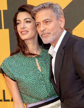 Clooney, 59 anni, e la moglie Amal, 42