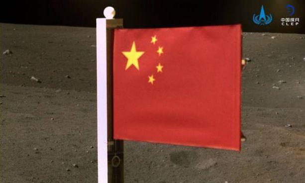 La foto pubblicata dall'agenzia spaziale cinese