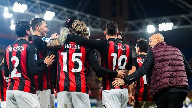 Il Milan vince anche con la Samp a Genova (Ansa)