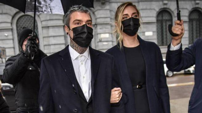 Fedez e Chiara Ferragni arrivano a Palazzo Marino per la consegna degli Ambrogini