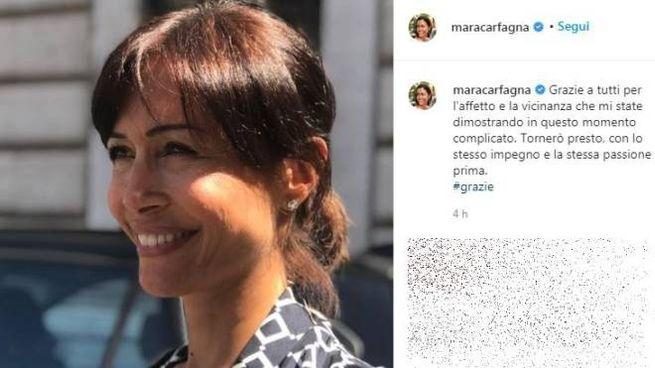 Mara Carfagna, il post su Instagram