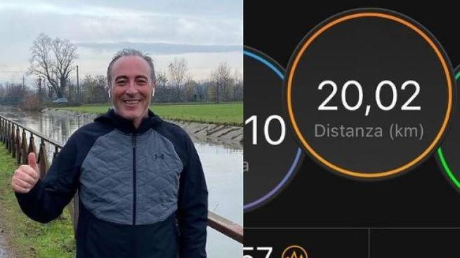 Gallera ha postato su Instagram foto della sua corsa: 20 km di percorso (Instagram)