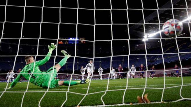 Il rigore di Cristiano Ronaldo che ha sbloccato il risultato (Ansa)