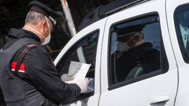 Covid, controlli dei carabinieri