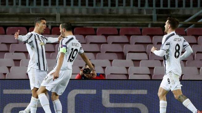 L'esultanza al Camp Nou di Ronaldo