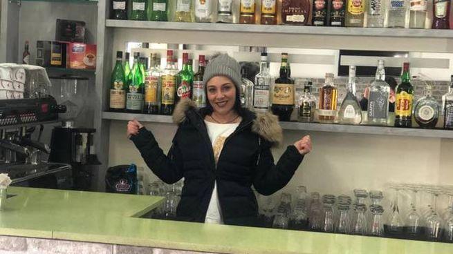 Valentina Beretta nella caffetteria