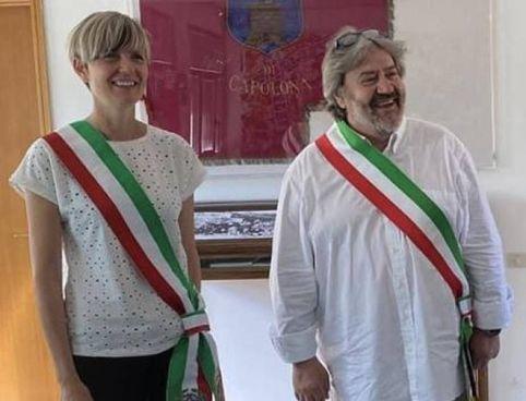 I sindaci Ilaria Mattesini e Mario Francesconi