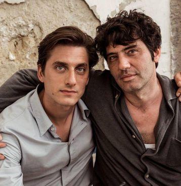 """""""Martin Eden"""": Luca Marinelli (36 anni) con il regista Pietro Marcello, 44 anni"""