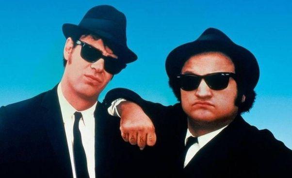 """""""The Blues Brothers"""", 1980: John Belushi (. 1949 - 1982) Dan Aykroyd, 68 anni"""