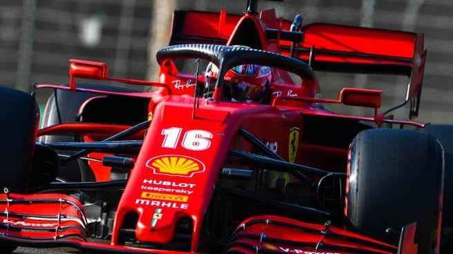 La Ferrari di Charles Leclerc (Ansa)