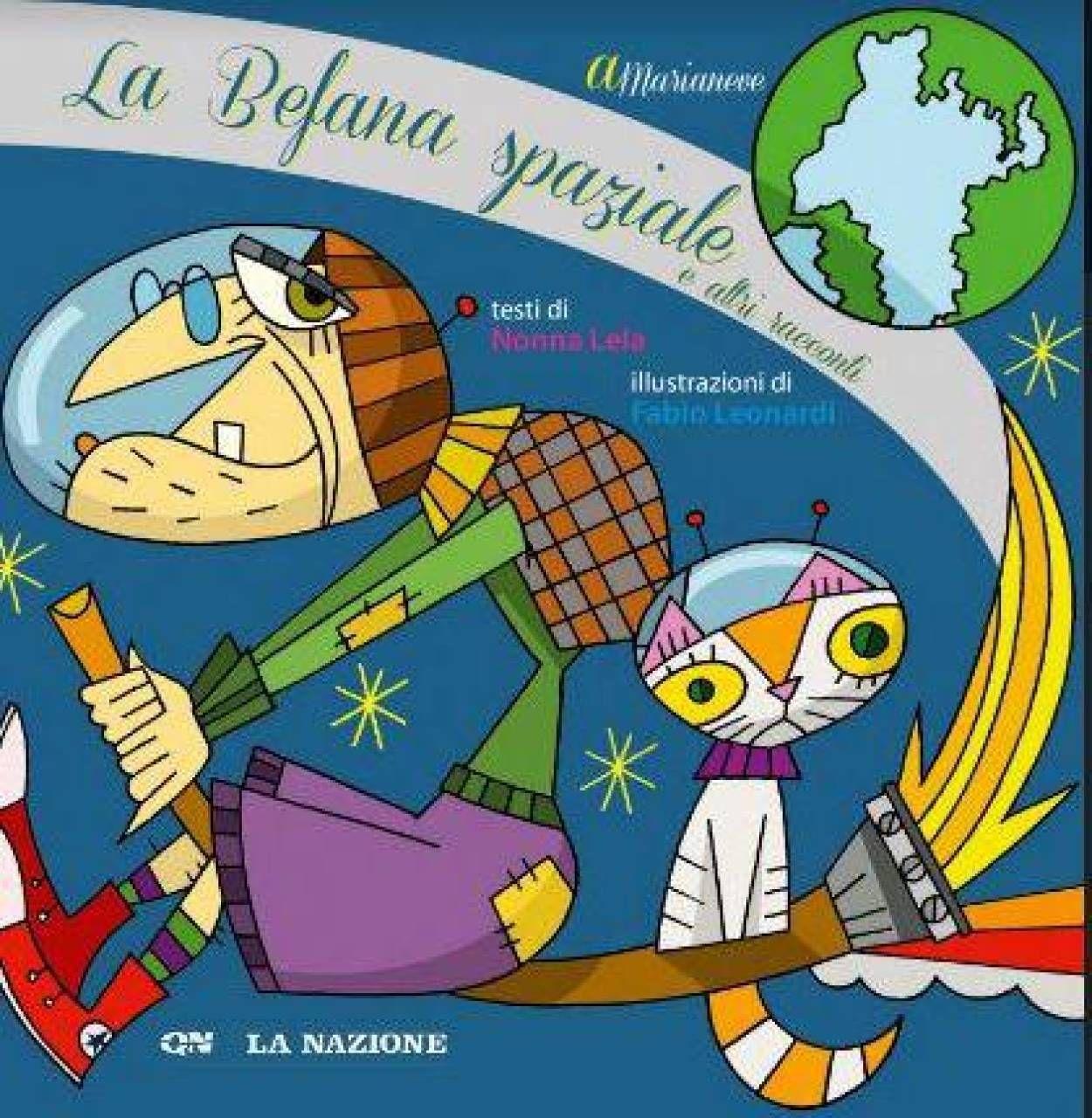 Patrizia Landucci (Gma onlus), la mamma di Marianeve Elisa Cacelli e la nonna Daniela Marrazzini con il libro 2020 «La Befana Spaziale e altri racconti»