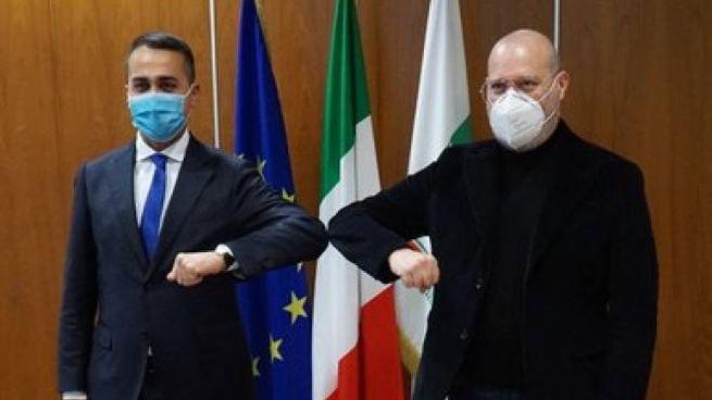 Luigi Di Maio e Stefano Bonaccini in visita al Tecnopolo di Bologna