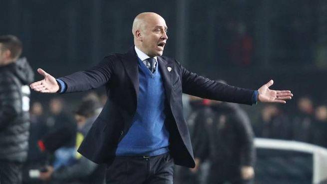 Eugenio Corini, allenatore del Lecce (Ansa)