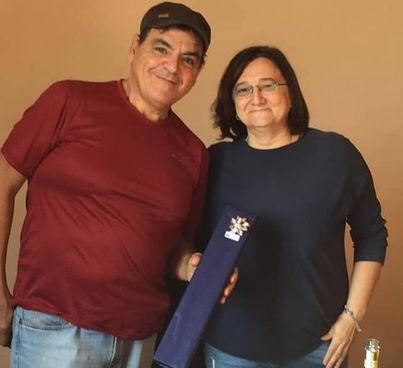Claudio Confortini con il sindaco Anna Marchesini