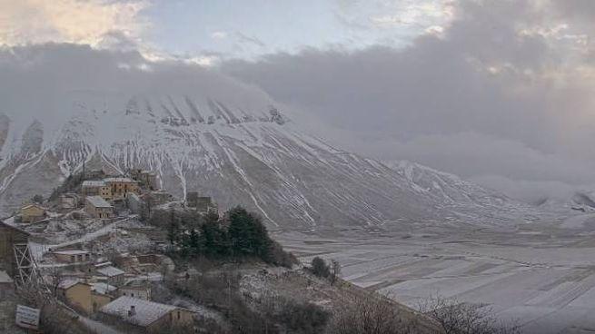 Neve a Castelluccio di Norcia