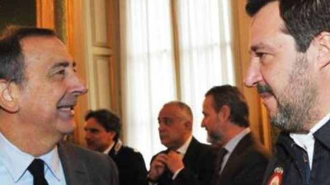 Il sindaco di Milano Giuseppe Sala e il leader della Lega Matto Salvini