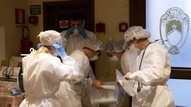Vaccinazione antiCovid alla RSa Santa Caterina de'Ricci (foto Attalmi)