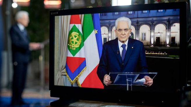 Il discorso di fine 2021 di Mattarella (Ansa)