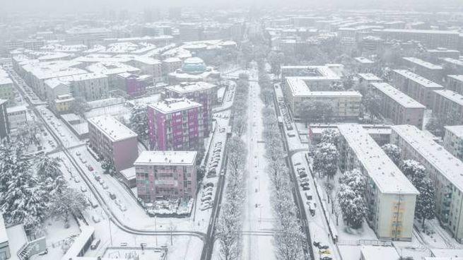 Meteo, la neve a Milano il 28 dicembre 2020 (Ansa)