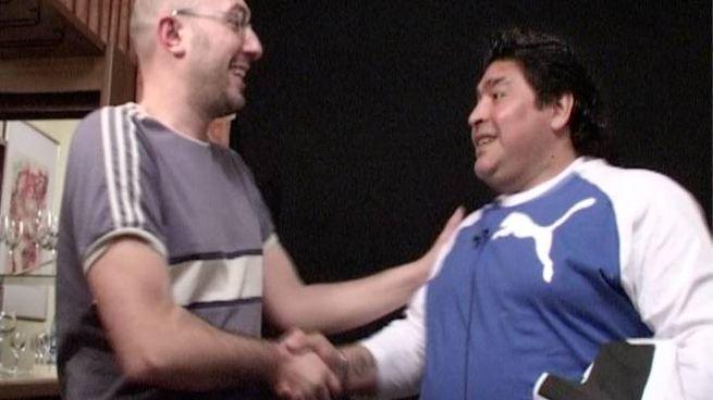 L'incontro fra Maradona e Garzella