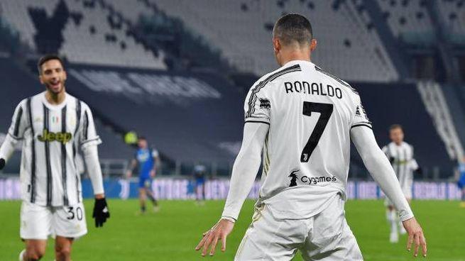 Cristiano Ronaldo, doppietta contro l'Udinese (Ansa)